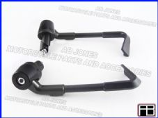 BRAKE AND CLUTCH LEVER PROTECTORS NEW DESIGN BLACK TRACK, RACE, STREETBIKE